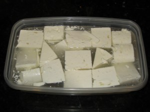 1 US gallon whole cow's milk Feta in water based brine.