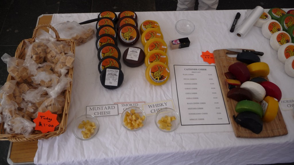 CheeseForum.org - Street Market Caithness Cheese Makers Stall, June 2009, Aberdeen, Scotland