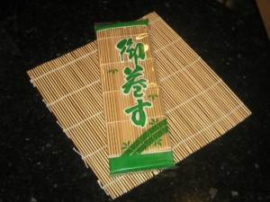 9x9 in Bamboo Sushi Mats, Not Good For Cheese As Retain Micro-Organisms