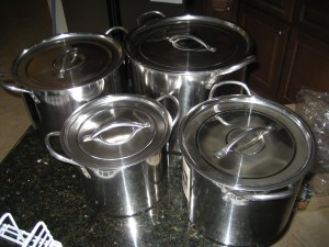 Cheap Set Of 4 Stainless Steel Nesting Stockpot Cheese Making Vats - CheeseForum.org