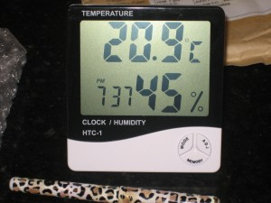 HTC-1 Brand Combination Digital Hygrometer, Thermometer, Alarm Clock - CheeseForum.org