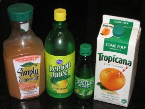 Store Bought Juices For Direct Acidification & Coagulation - CheeseForum.org