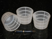 Medium (Ricotta etc) Tapered Gravity Draining Baskets, 450w x 325d inch, 114w x 83d mm - CheeseForum.org