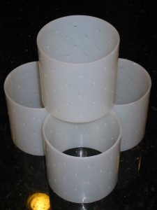 Small (Camembert etc) Gravity Draining Hoops, 425w x 425d inch, 108w x 108d mm - CheeseForum.org